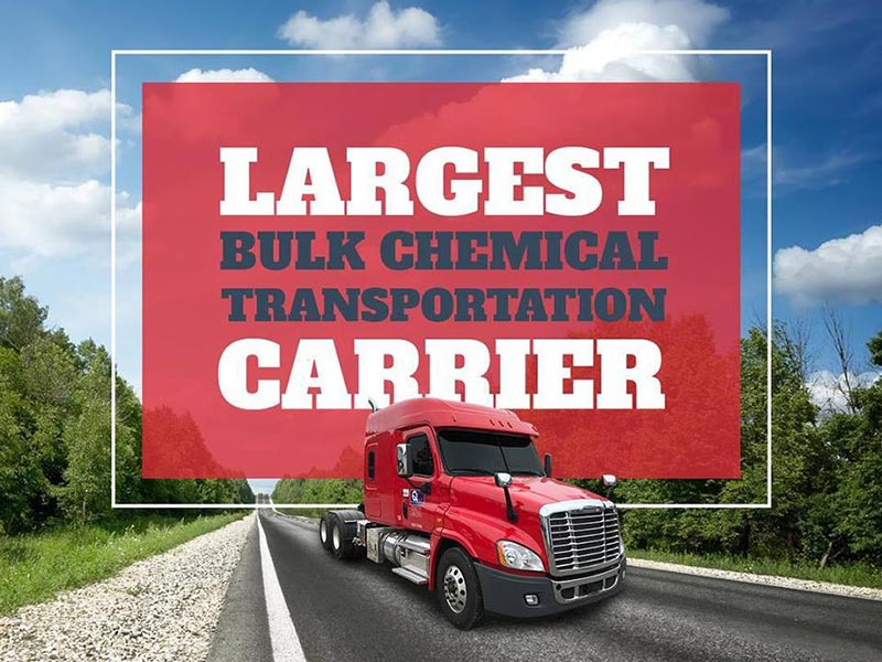 Quality Carriers is the largest bulk chemical transportation company in America!